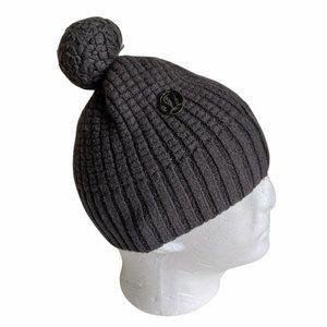 Lululemon 100% Merino Wool Puff Pom Beanie Gray